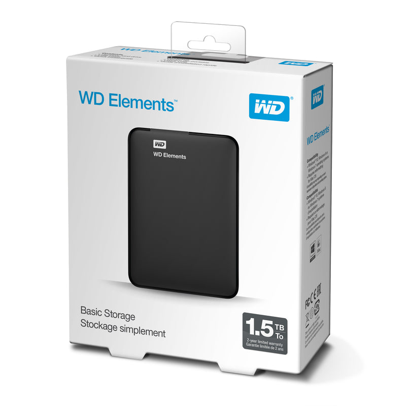 WD Elements Portable Harddisk WDBU6Y0015BBK 1.5TB USB 3.0