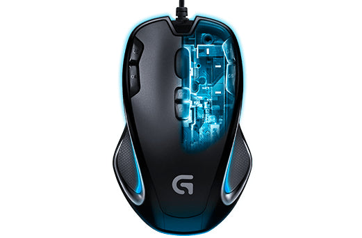 Logitech G300S Optisk Kabling Sort