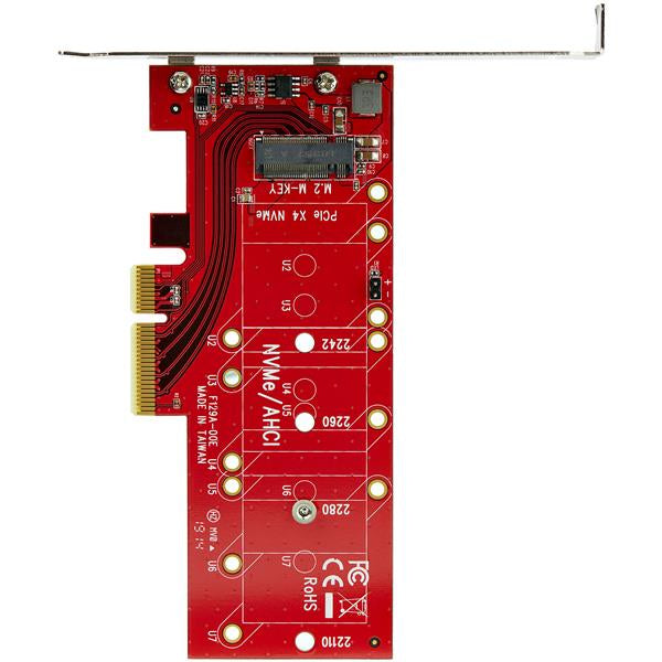 StarTech.com M2 PCIe SSD Adapter - x4 PCIe 3.0 NVMe / AHCI / NGFF / M-Key - Low Profile and Full Profile - SSD PCIe M.2 Adapter (PEX4M2E1) Interfaceadapter