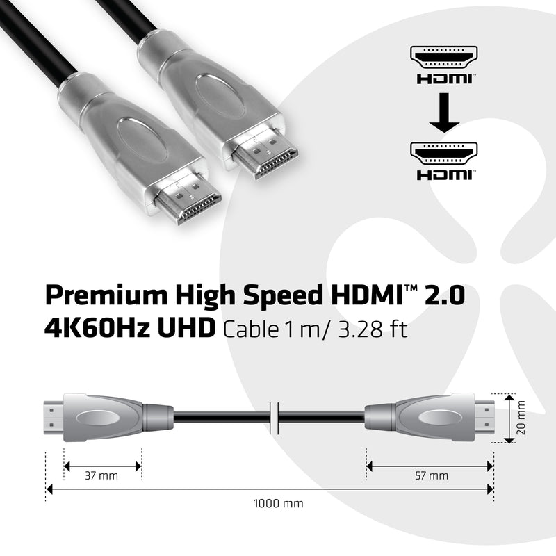 Club 3D HDMI 2.0 High Speed 4K60Hz 1m kabel