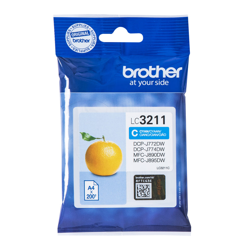 Brother LC 3211C Cyan 200 sider