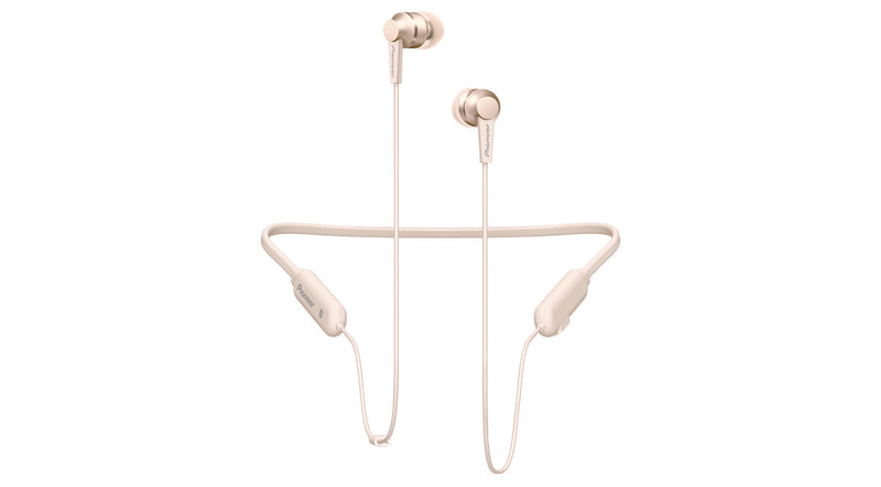Pioneer SE-C7BT-G Bluetooth® In Ear hovedtelefoner In-ear Headset, NFC Guld