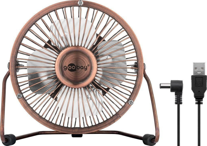 4 Inch Desktop USB fan, bronze, 1.2 m - provides for a cool breeze on your desk