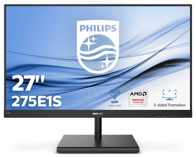 Philips E-line 275E1S 27 2560 x 1440 VGA (HD-15) HDMI DisplayPort 75Hz