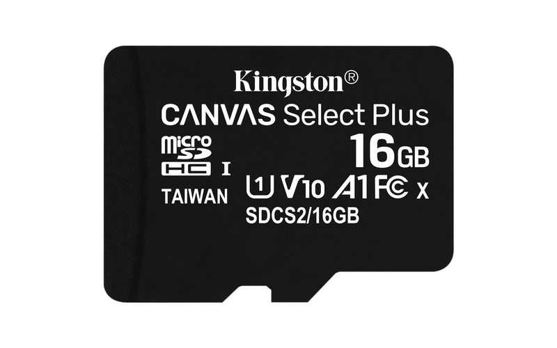 Kingston Canvas Select Plus microSDHC A1 / Video Class V10 / UHS Class 1 / Class10