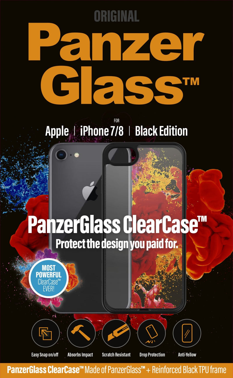 PanzerGlass ClearCase Black Edition back sort for Apple iPhone 7, 8, SE (2. generation)