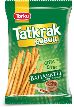 TORKU TATKRAK STICK CRACKER WITH SPICIES / B.BAHARATLI CUBUK KRAKER 15x75 GR