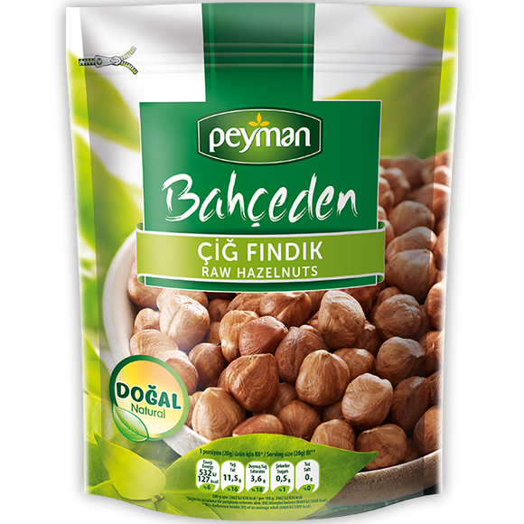 PEYMAN NATURAL RAW HAZELNUT / CIG IC FINDIK 12X150 GR