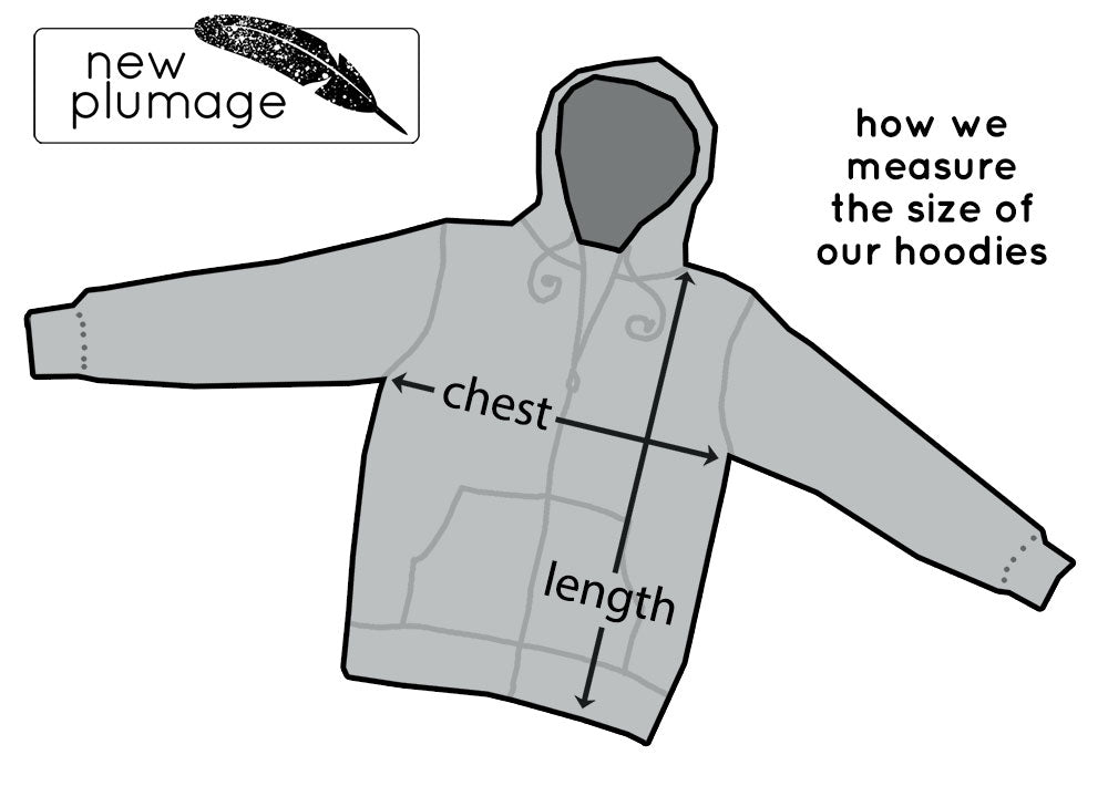 How we measure the size of our hoodies