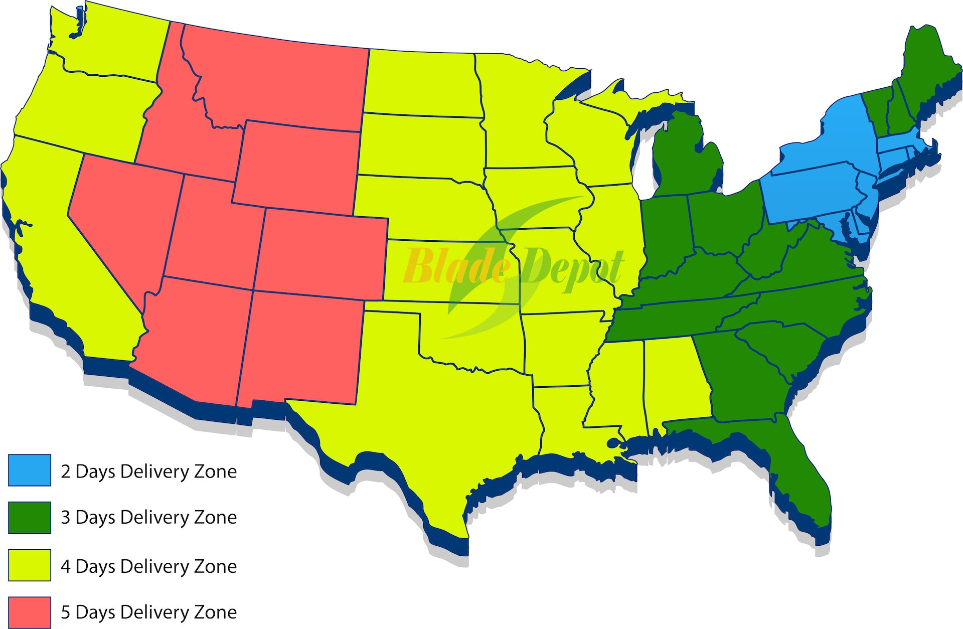 Blade Depot Store Shipping Zone