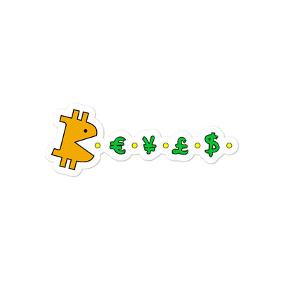 Bitcoin Bit-Man Sticker - satstackers