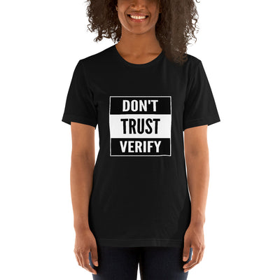 Bitcoin Don't Trust Verify T-Shirt - satstackers