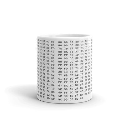 Bitcoin Genesis Block Mug - satstackers