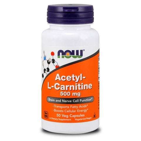 Carnitine NOW Foods Acetyl L-Carnitine 500mg [50 Caps]