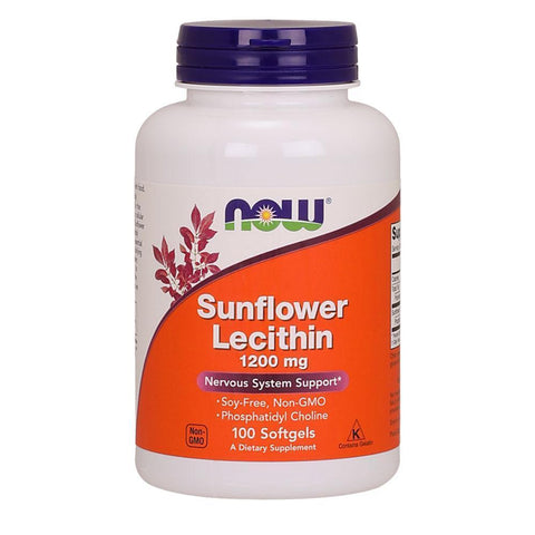 General Health NOW Foods Sunflower Lecithin 1200mg [100 Gels]
