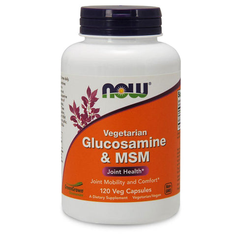 Joint Health NOW Foods Glucosamine + MSM Veg [120 Caps]