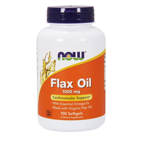 Omegas NOW Foods Flax Oil 1000mg [100 Gels]