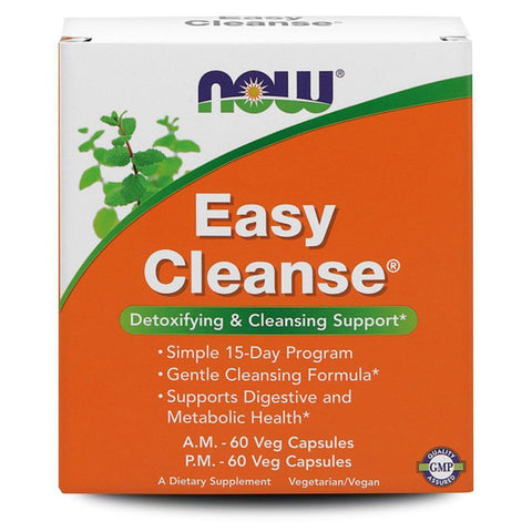 Vitamins & Minerals NOW Foods Easy Cleanse Kit [120 Caps]