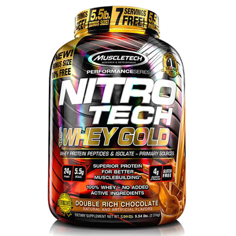 MuscleTech Nitro-Tech 100% Whey Gold [2.5kg]