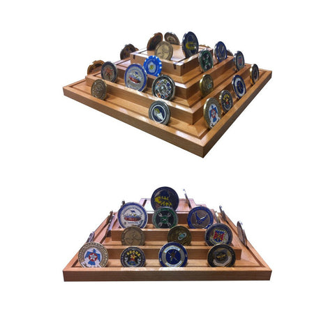 SPINNING PYRAMID COIN RACK