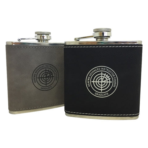 AIC LEATHERETTE FLASK
