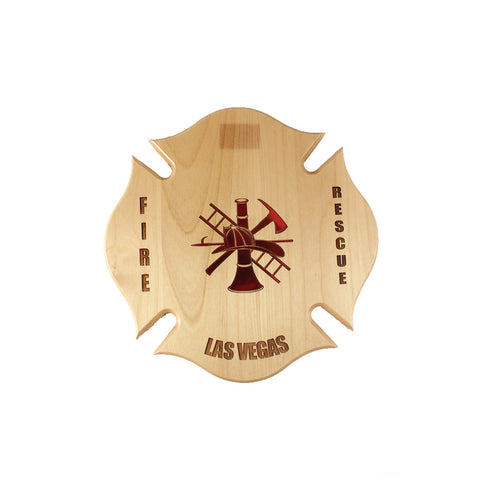 ALDER WOOD MALTESE CROSS