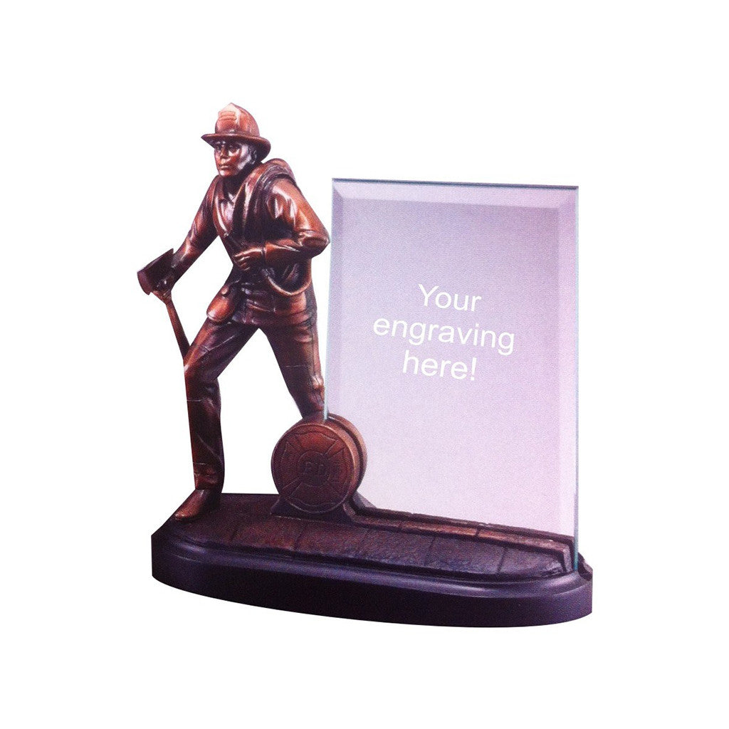 Fireman With Glass