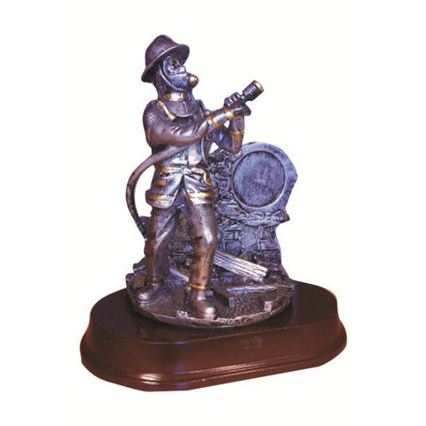 FIREMAN W/MEDALLION HOLDER