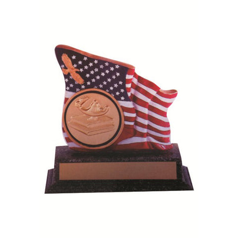 FLAG W/COIN HOLDER