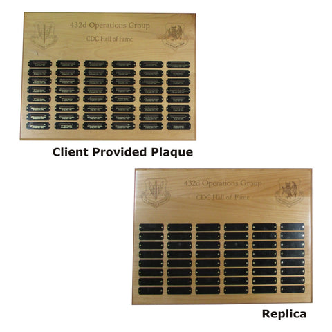 PLAQUE REPLICAS