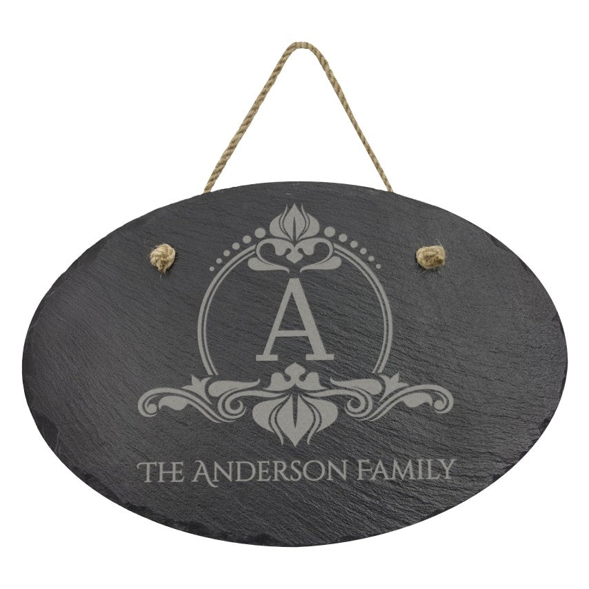 SLATE OVAL DOOR SIGN