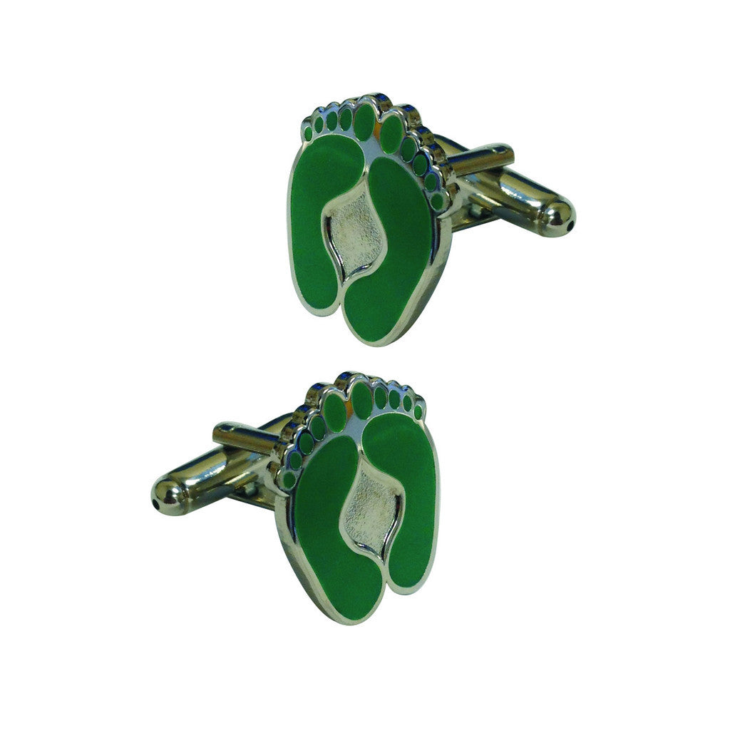 Green Feet Cufflinks