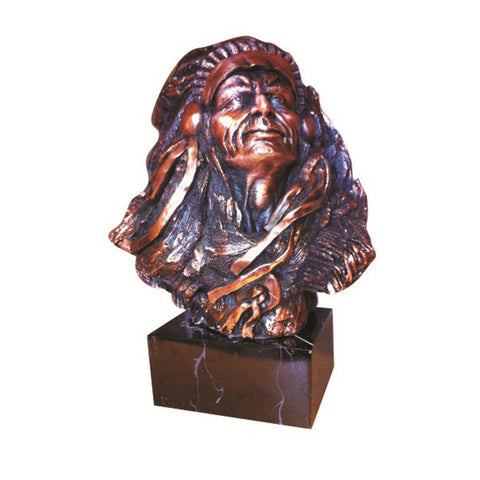 COPPER CHIEF BUST