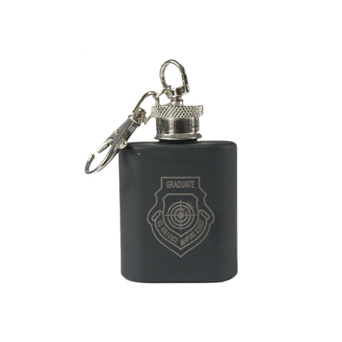 WEAPONS SCHOOL GRAD PATCH KEYCHAIN FLASK