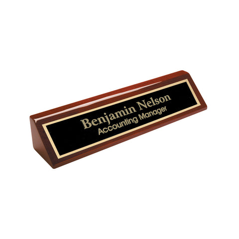 NAMEPLATE - PIANO W/ METAL PLATE