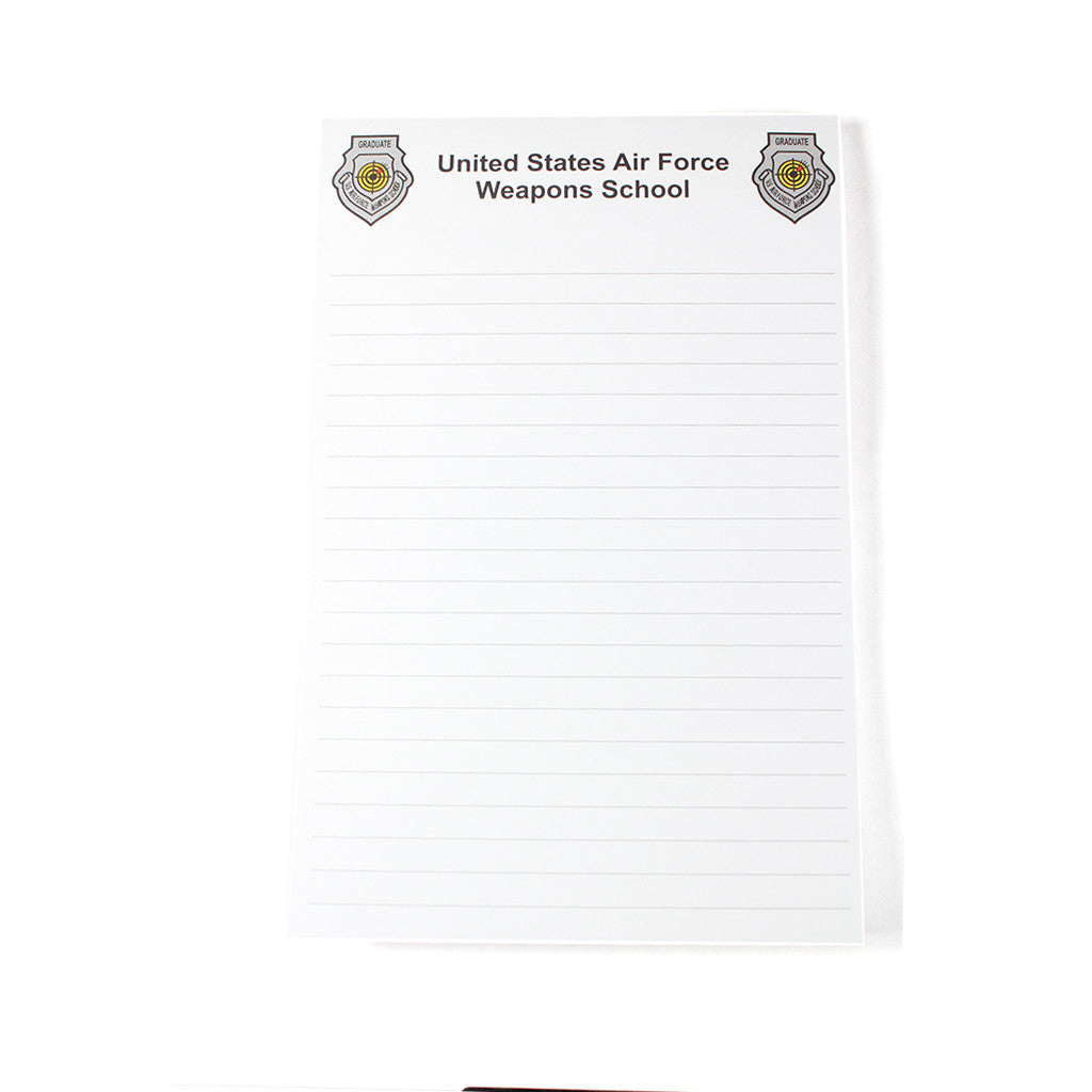 Weapons School Notepad