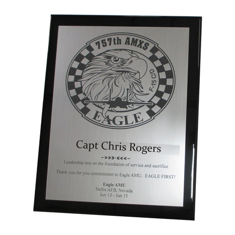 PIANO FINISH PLAQUE WITH METAL PLATE