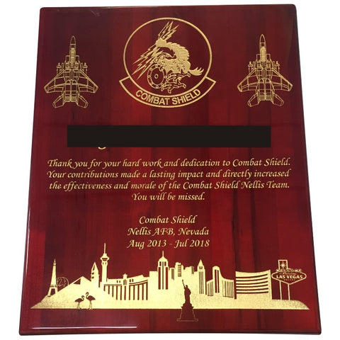 PIANO FINISH PLAQUE