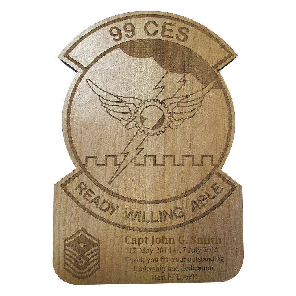 SQUADRON PATCH PLAQUE