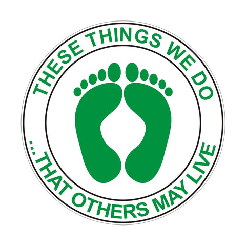 THAT OTHERS MAY LIVE ZAP/DECAL