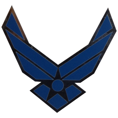 BLUE AND SILVER AIR FORCE WINGS