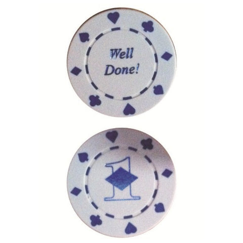 1st SGT POKER CHIP (WHITE)