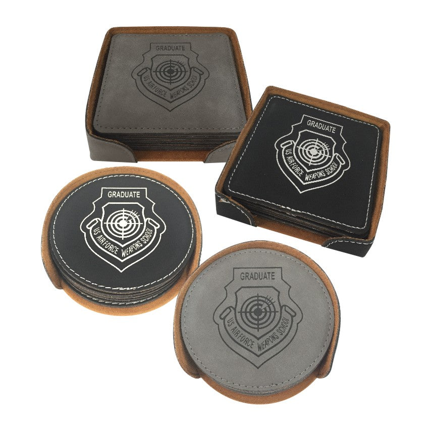 WPS LEATHERETTE COASTER SET