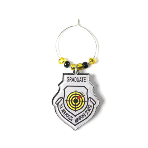 WEAPONS SCHOOL ACRYLIC WINE CHARM
