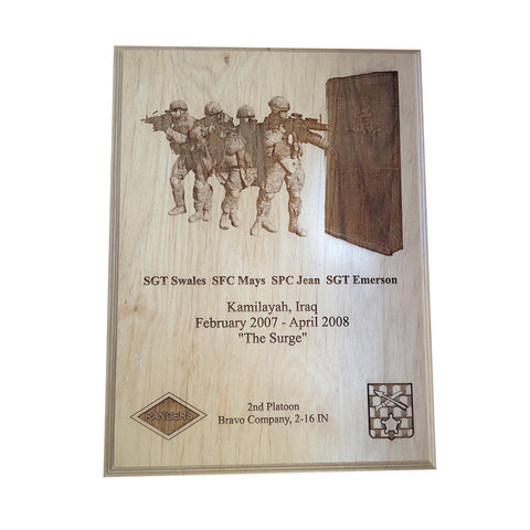 LASER ENGRAVED PHOTOGRAPH PLAQUE