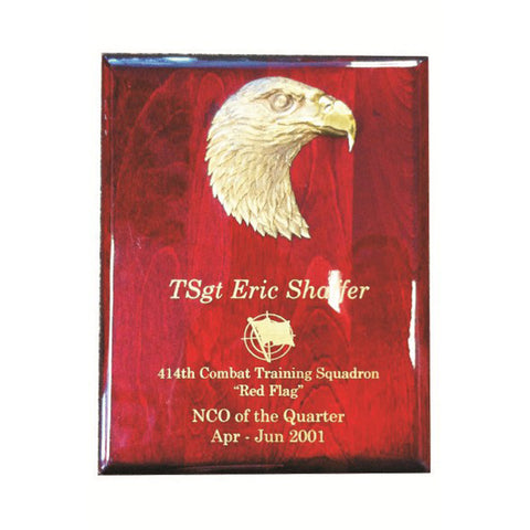 PIANO FINISH PLAQUE W/EAGLE