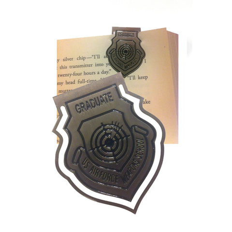 WEAPONS SCHOOL GRAD PATCH BOOKMARKER