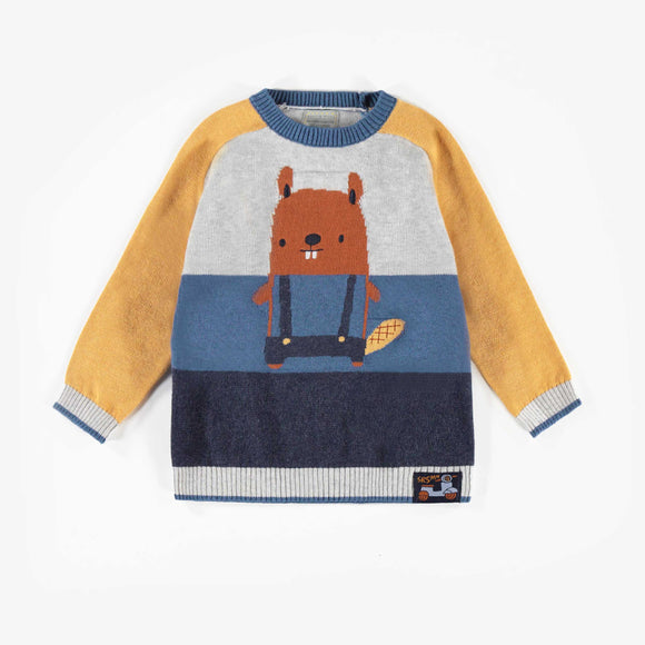 Souris Mini Yellow & Grey Sweater
