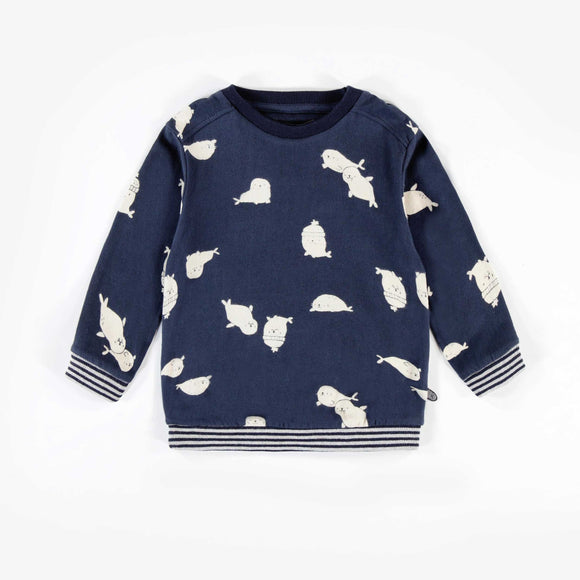 Souris Mini Blue Patterned Sweater