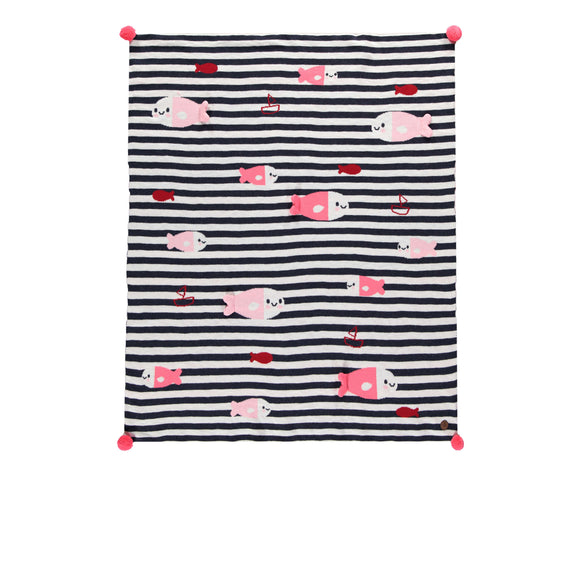 Souris Mini Nautical Knit Blanket